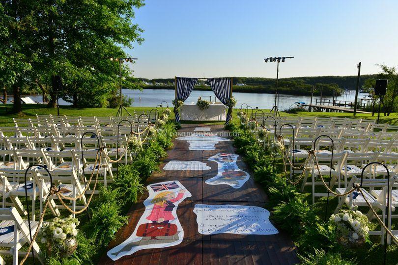 Altar y camino de la novia