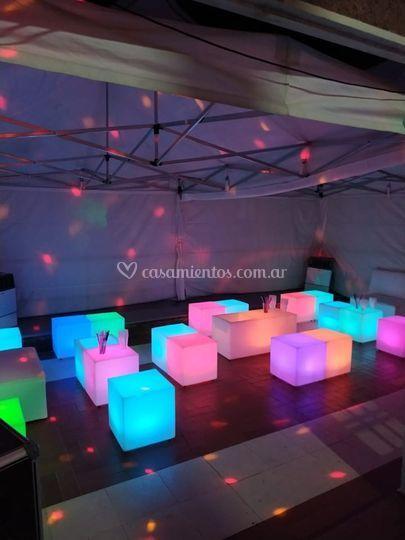 Alquiler de livings LED