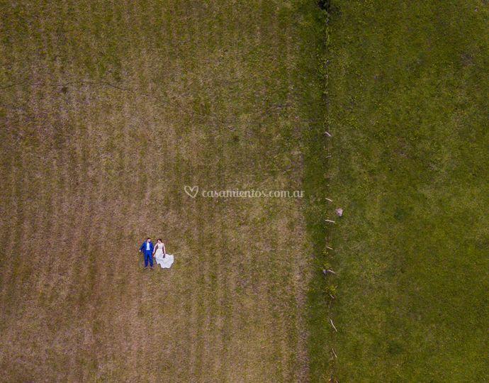Foto novios drone
