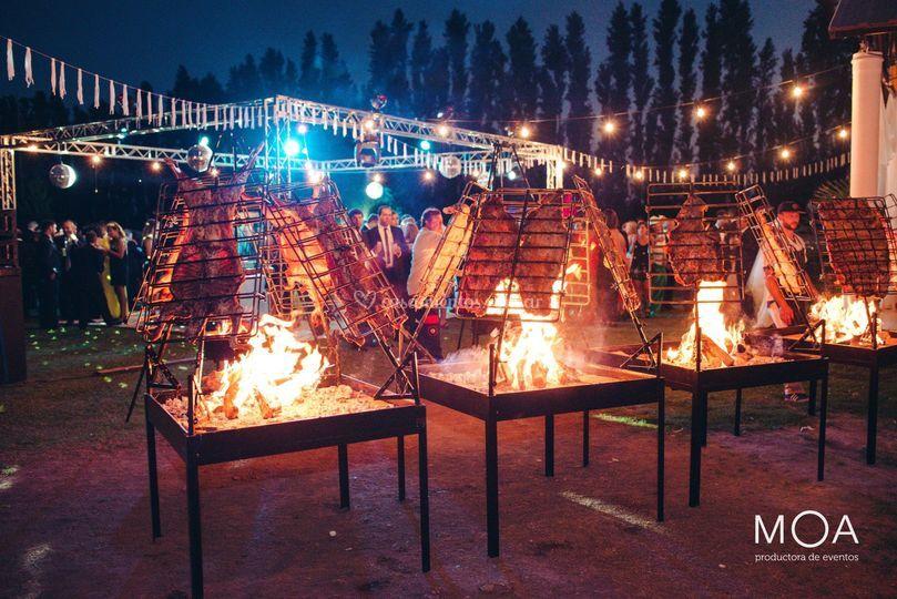 A las llamas