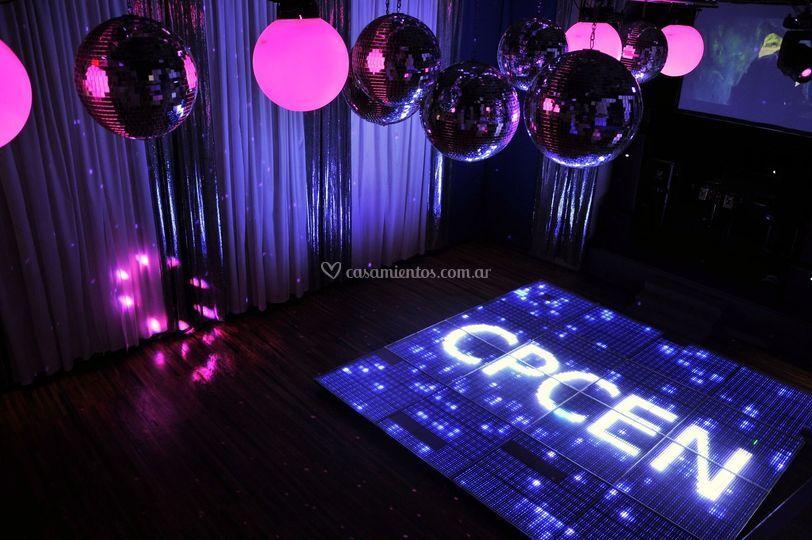 Sistema LED en pista