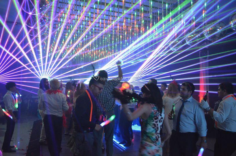 Baile con laser