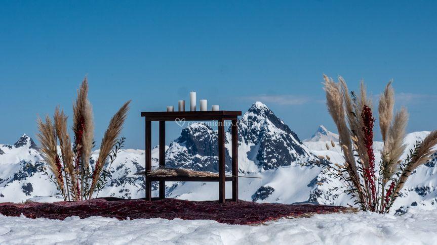 Altar en filo de montaña