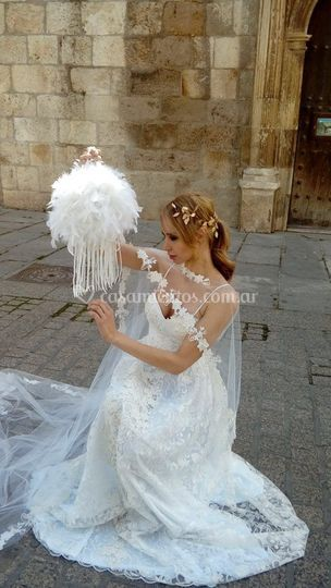 Cartera de cuero para novias