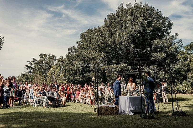 Ceremonia en el parque