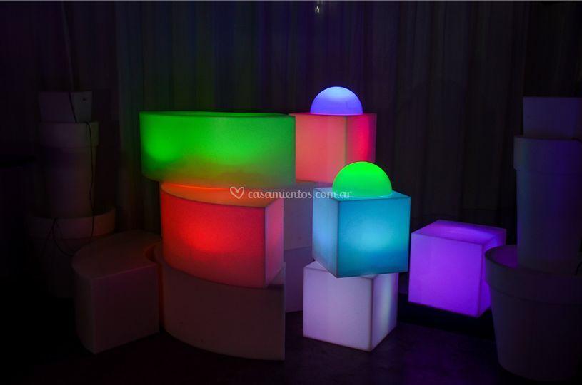 Cubos luminosos