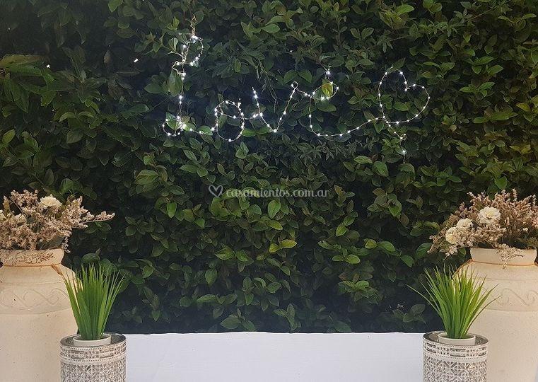 Ambientación exterior salón