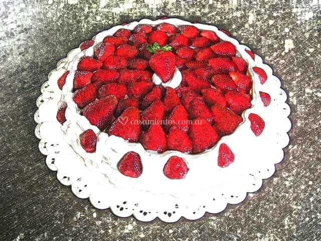 Mesa de dulce tarta frutal