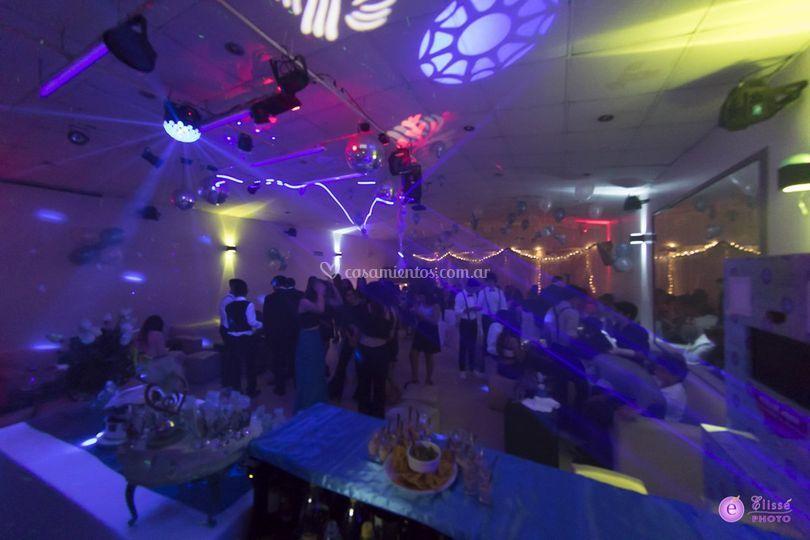 Pista de baile con luces