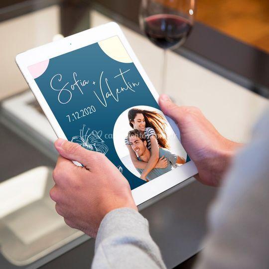 Invitación en tu tablet