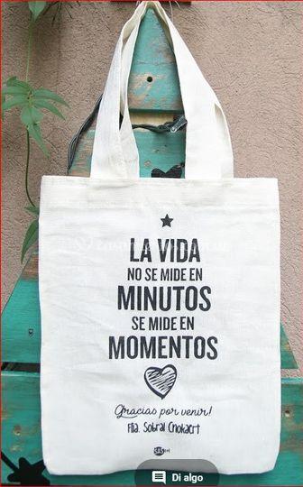 """Bolsa eco-lienzo """"La vida.."""""""