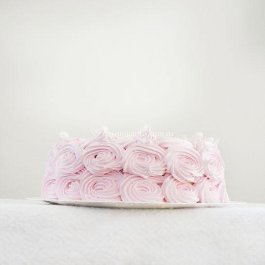 Flores rosas merengue