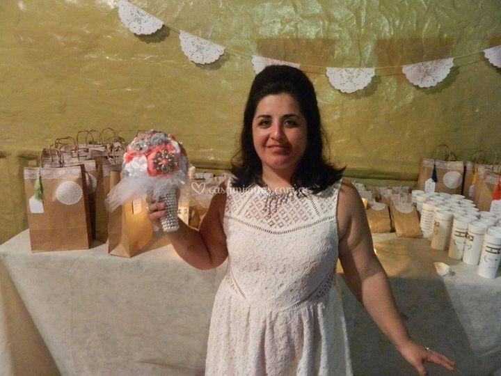 Ramo de novia en tela