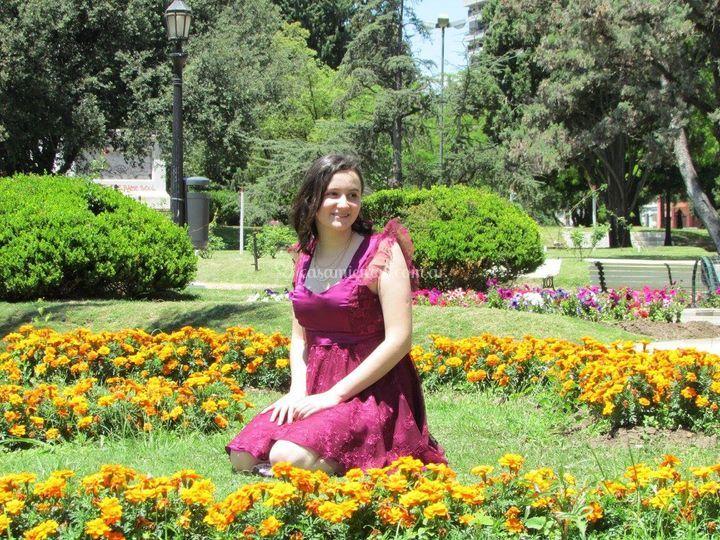 Vestido de 15 color Uva
