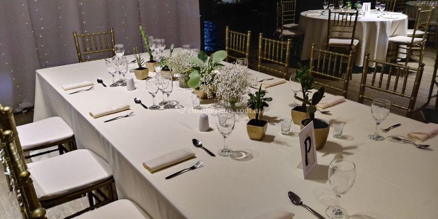 Mesa de bodas puerto madero