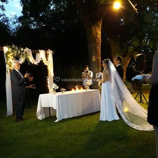 Ceremonia en Tres Robles