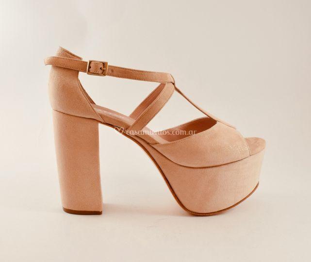 Nude sandalia