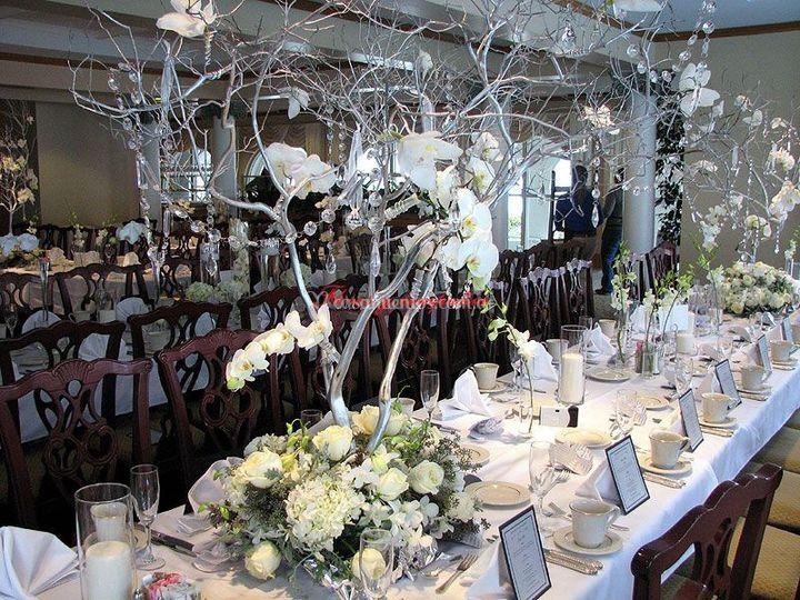 Decoracion mesa principal de Flores y Compañía