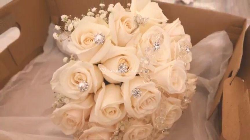 Ramo de novia con detalles