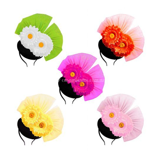 Pack / fascinators con flores