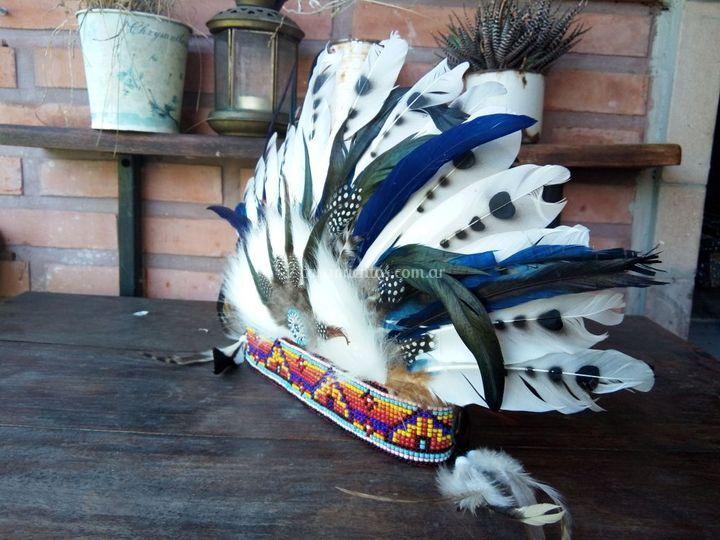 Corona de plumas el