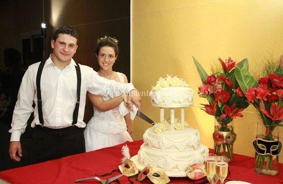 El pastel de la boda
