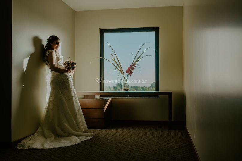 Retrato artístico de novia