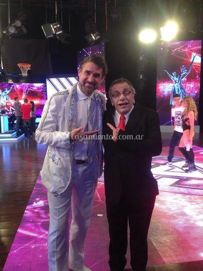 Con Campi en showmatch