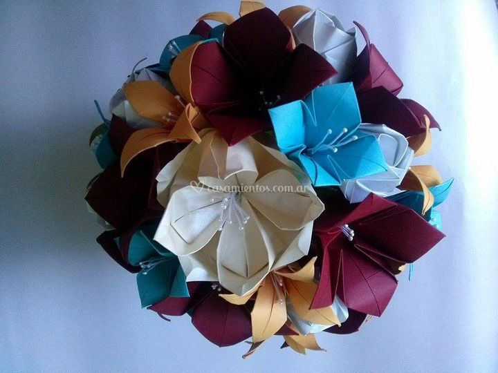 Ramo de novia origami