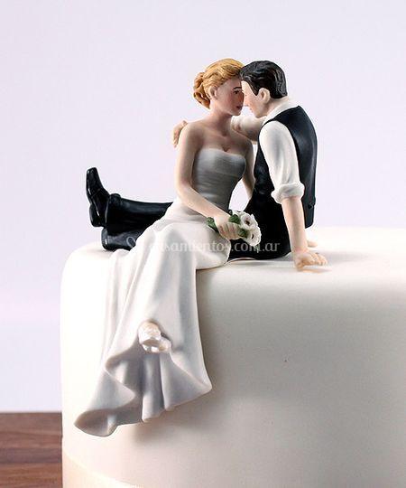 Cake topper mirada de amor