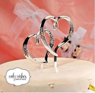 Adorno torta romántico