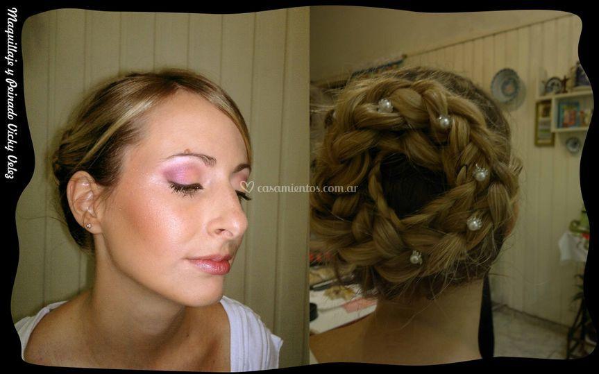 Maquillaje y peinado civil