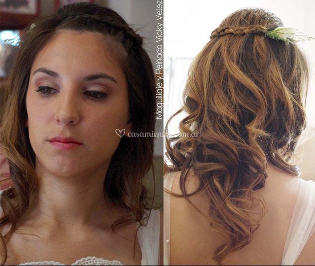 Maquillaje y peinado civ/fiest