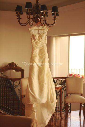 Back vestido novia