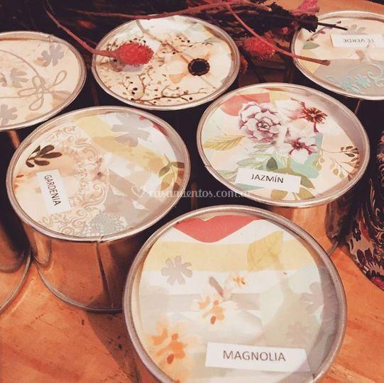 Velas de soja mix de aromas