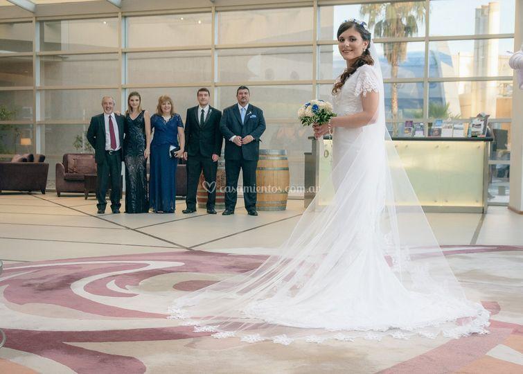 La novia y familiares