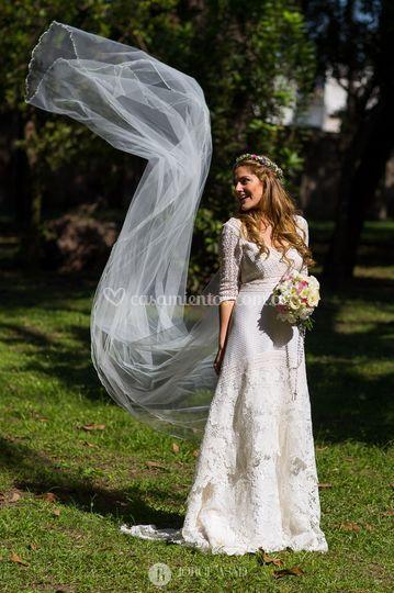 La novia y su elegancia