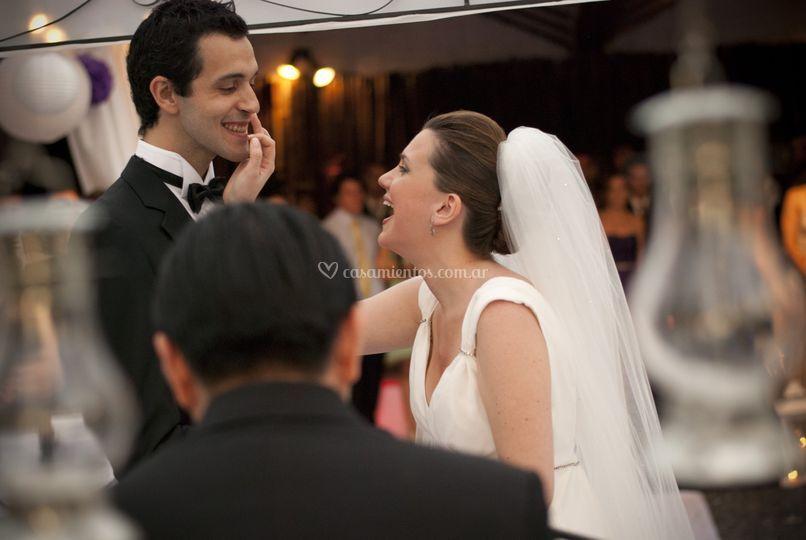 Sonrisas en la boda Lalín