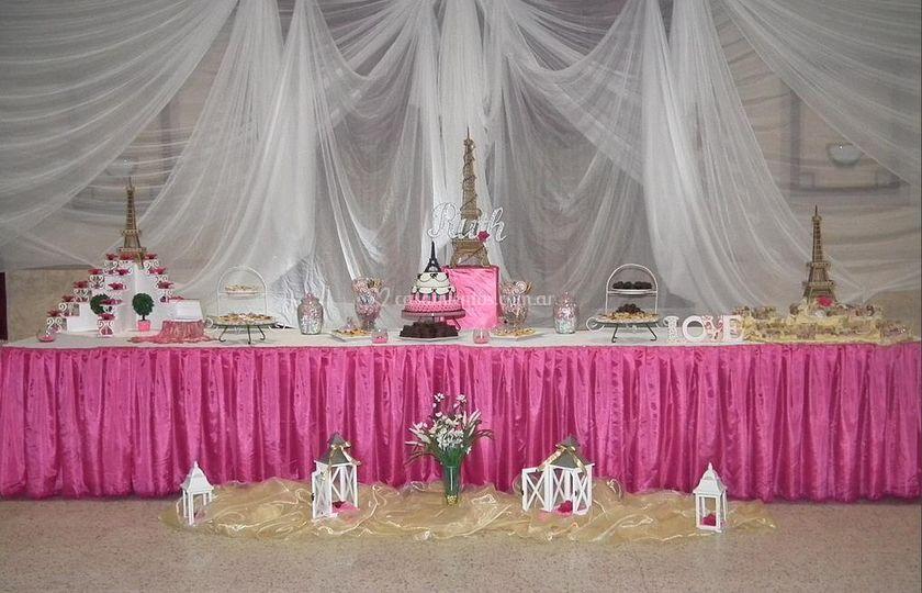 Mesa decorada