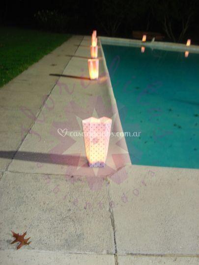 Bolsitas de papel con vela