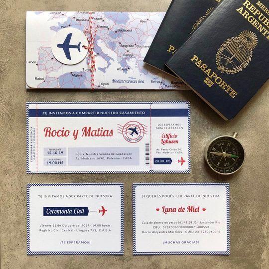 Invitación boarding pass