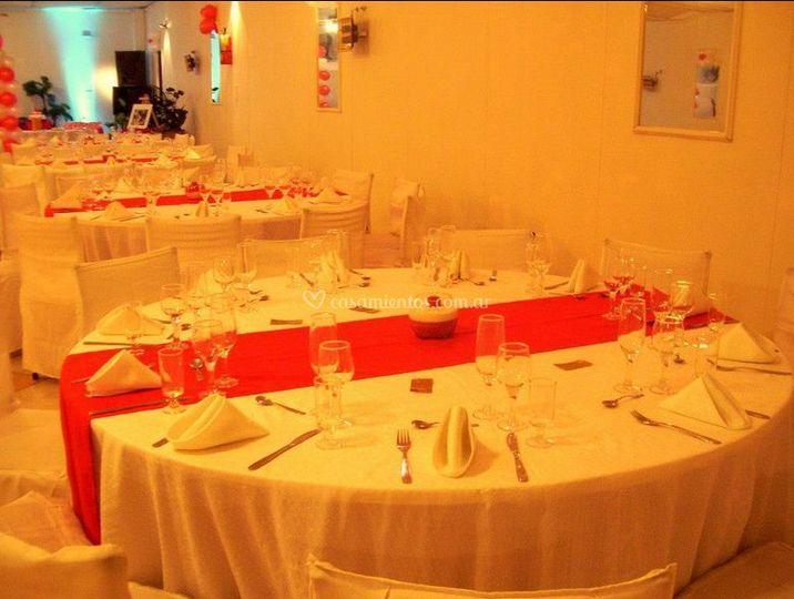 Presentación mesas de Salón de fiestas JR