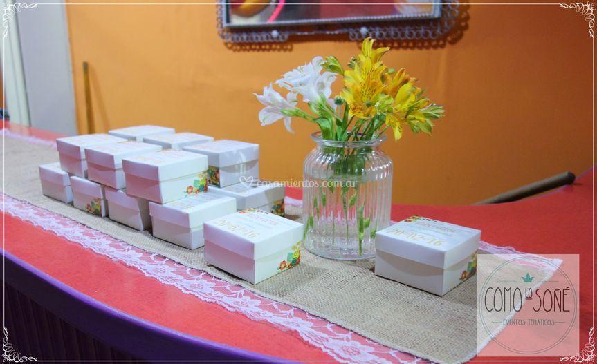 Arreglo floral para souvenirs