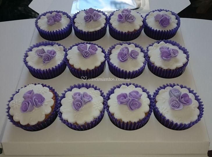 Cupcakes en violeta