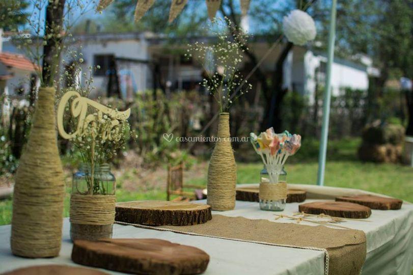 Mesa dulce rústica