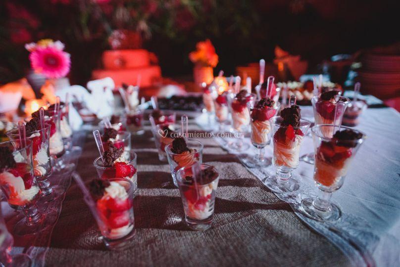 Camino y deco mesa dulce