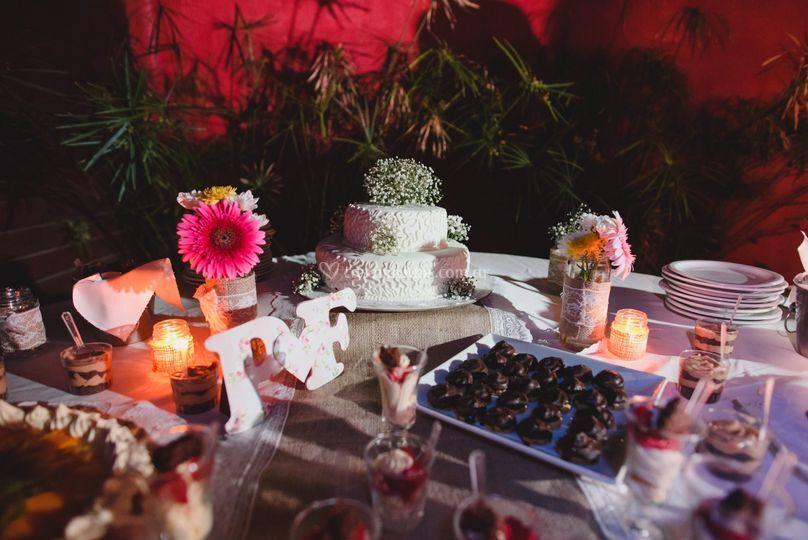 Camino deco y mesa dulce