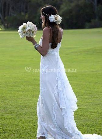 Toques florales para la novia