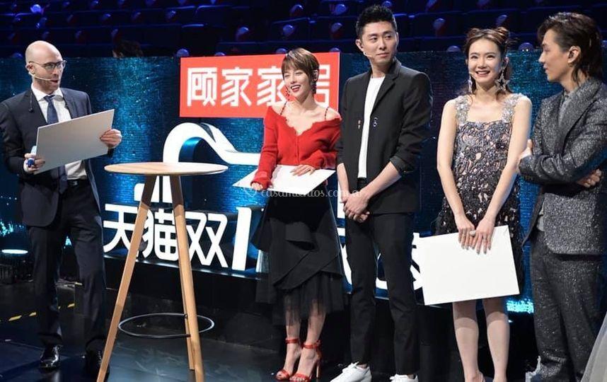 Show en la TV en Shangai