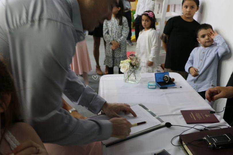 El momento de la firma